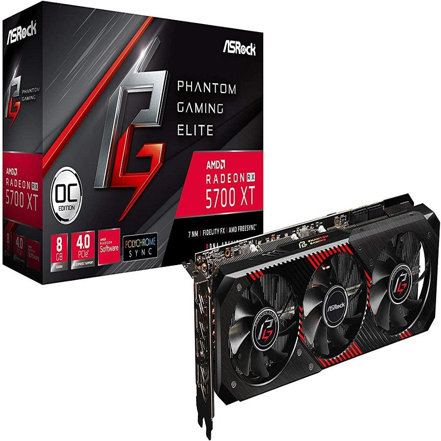 ASROCK Radeon RX 5700 XT Phantom Gaming Elite Graphics cardsRX5700XT PG E