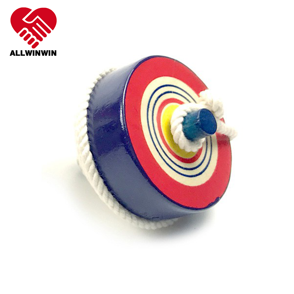 ALLWINWIN SPT14 Spinning Top - String Japanese Style 57mm Rope Cord Excellent Crafted Wooden