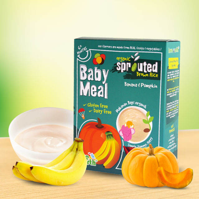 Baby Puree powder Banana & Pumpkin flavour