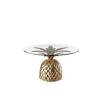 Exclusive Fancy Modern Design Pineapple Tree Shape Metal Coffee Table Base without glass by Handicrafts World Corporation India