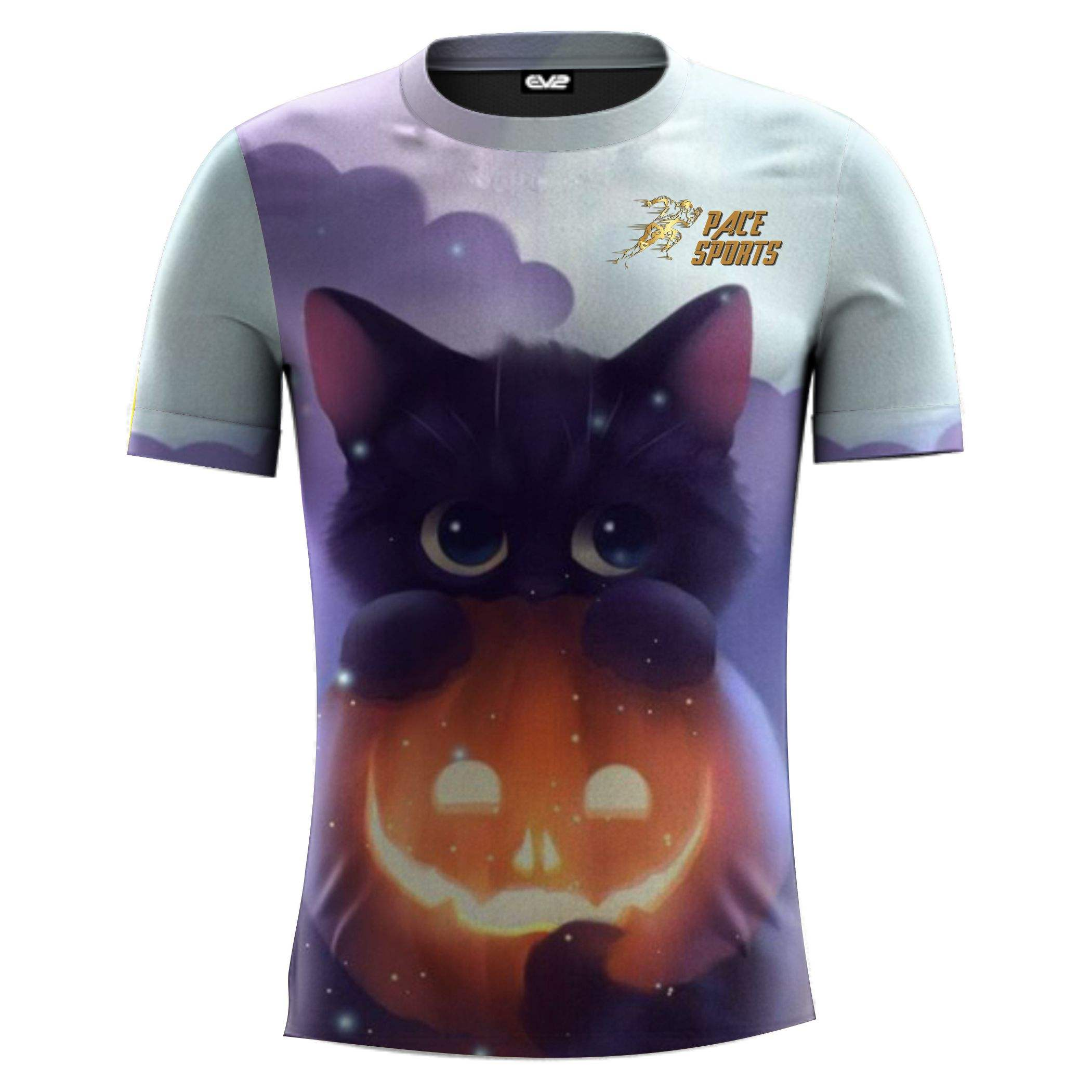 Top Quality Street Style Crew Neck Sublimation cat printed T Shirt
