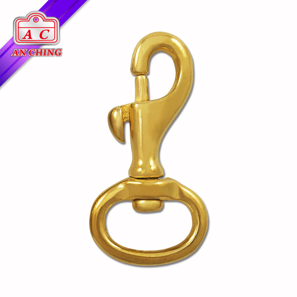 Golden Metal Horse Riding Hook Solid Brass Snaps