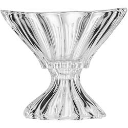 Aurum Crystal AU52109, 8-Inch Clear Plantica Crystal Fruit Bowl on a Stem, Decorative Centerpiece Wedding Gift Platter