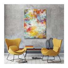 Vietnam Beautiful Gift  Colorful Abstract Printed Art Painting on PVC panel for Decorating House Hotel