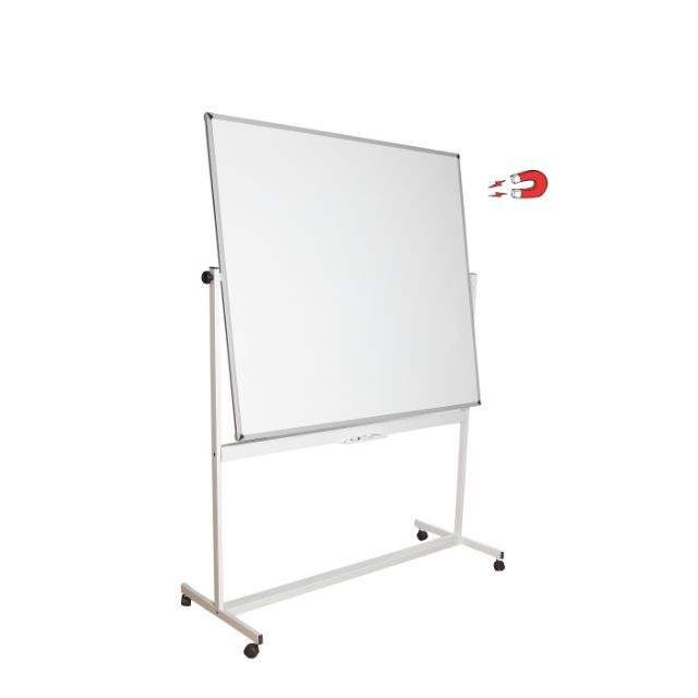 Mobile Whiteboard Single or Double Sided Magnetic Whiteboard 90x120cm