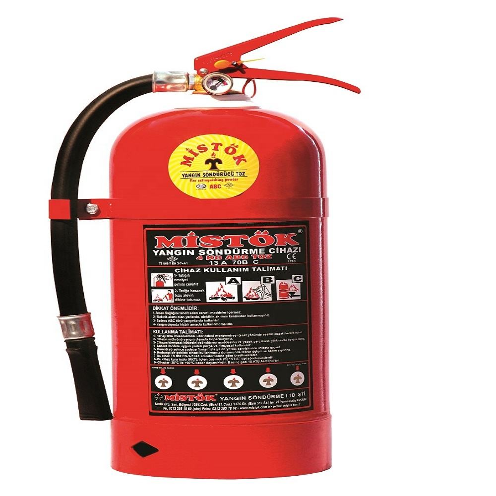 factory price brass valve 4 kg A-03 MISTOK fire fighting extinguisher MAP %90 POWDER ABC fire extinguisher