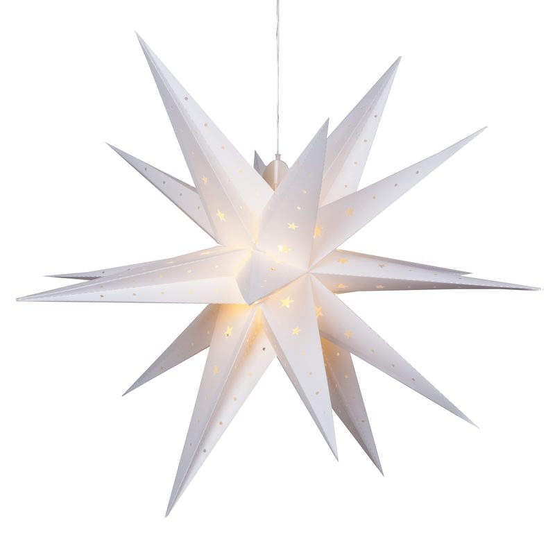 Wit Grote Moravian Papier Origami Ster Kerst Ornamenten
