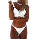 2019 wholesale women swimwear swimsuit sexy bikini plain two piece bathing suit
