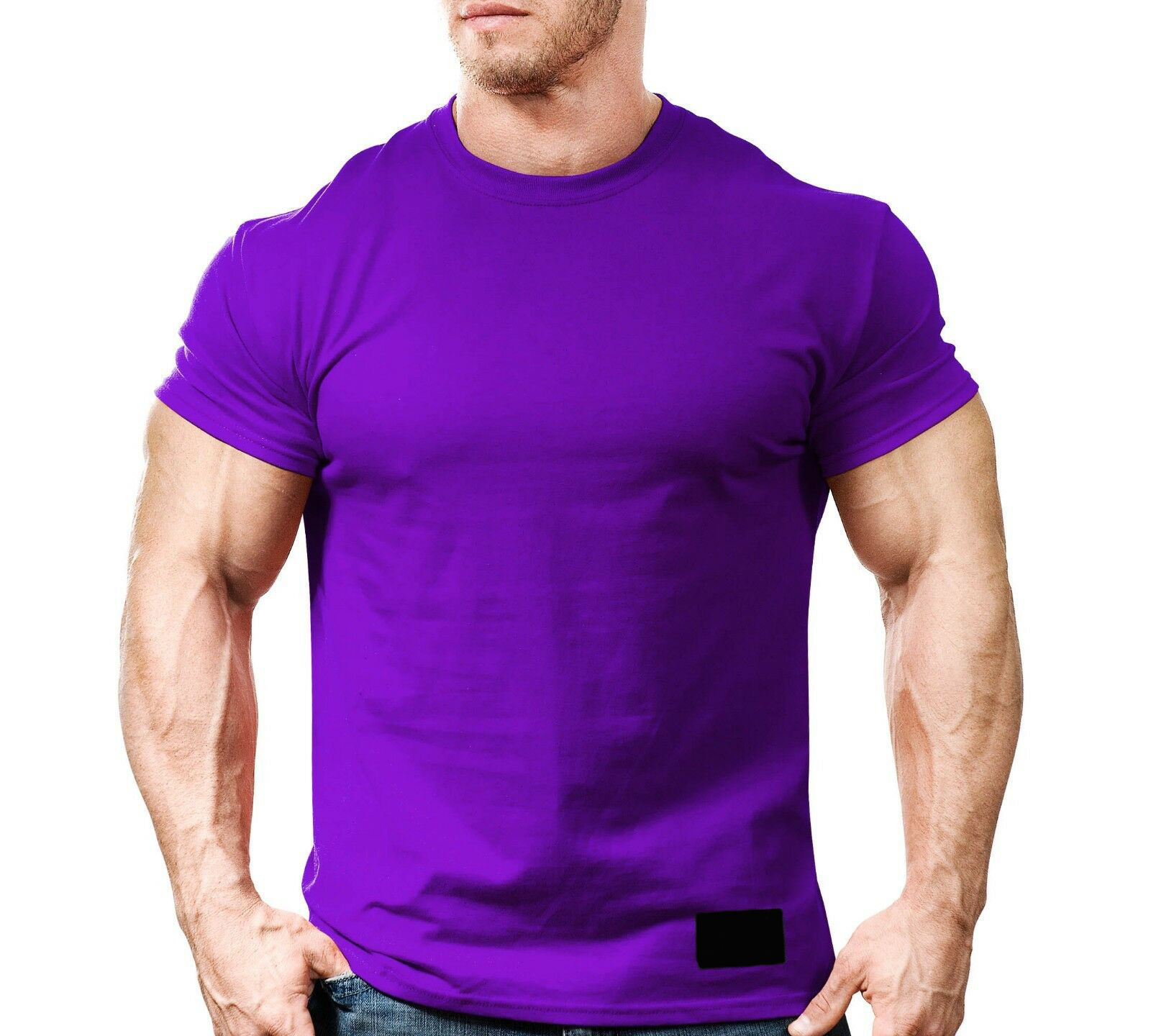 Mens Workwear Short Sleeve T-Shirt Regular and Big & Tall Sizes Cotton, Jersey Pull On closure