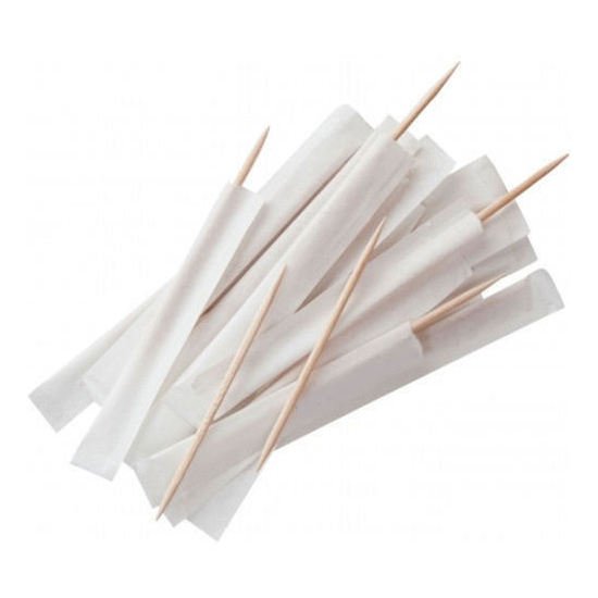 Barbecue bamboo natural healthy eco-friendly toothpick in paper
