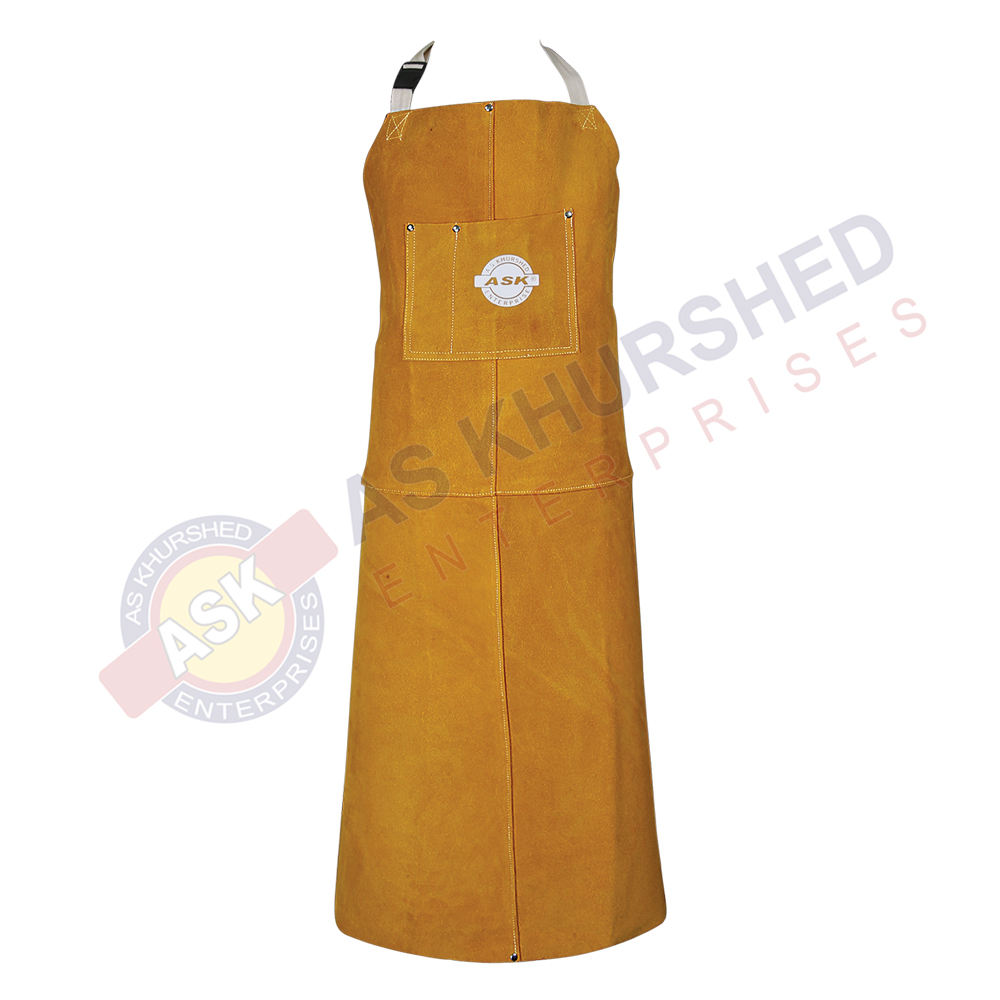 Gardening Apron Leather Safety Apron Welding Apron Two Pocket for Tools