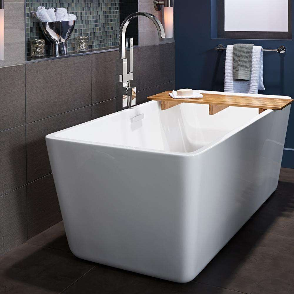 Aifol solid surface square fiber glass free standing shower bathtub price for baby
