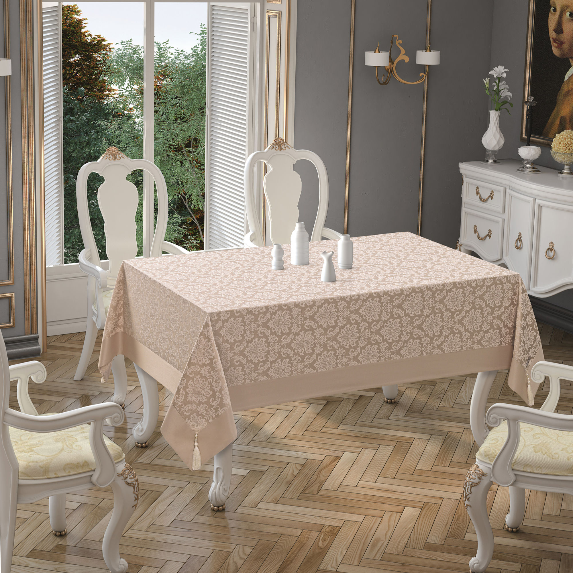 Polycotton Table Cloths Luxury Home Textile Fabric Made in Turkey