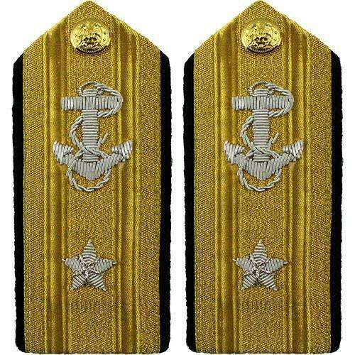GENUINE U.S. NAVY SHOULDER BOARD: LINE REAR ADMIRAL LOWER 1 STAR - MALE