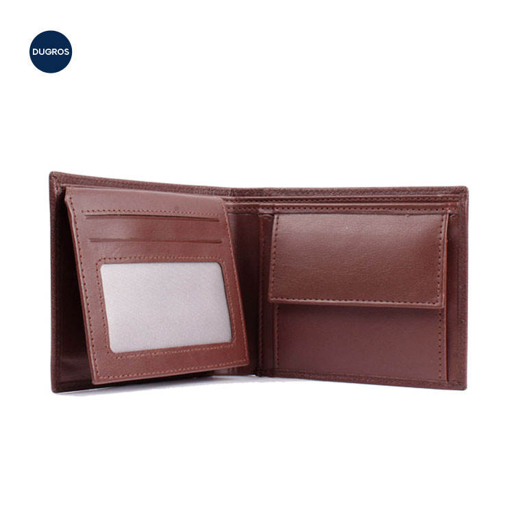 New Design Factory Wholesale Custom Men Genuine Leather Wallet