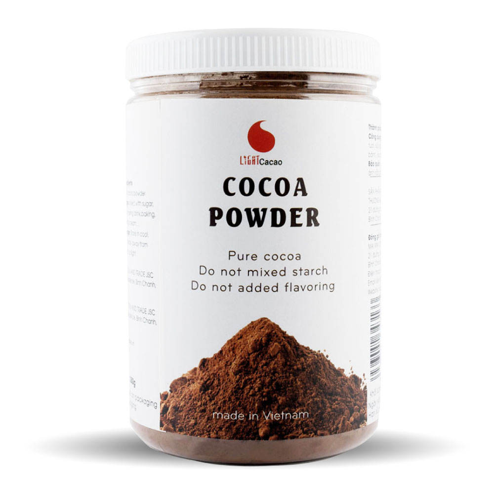 CACAO3IN1 COCONOT JAR 350g Natural 100& Cocoa Powder Ingredients From Vietnam Company