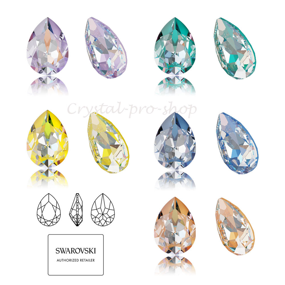 Swarovski Elements Teardrop (4320) Fantaisie Pierre DeLite Laque Cristal Strass