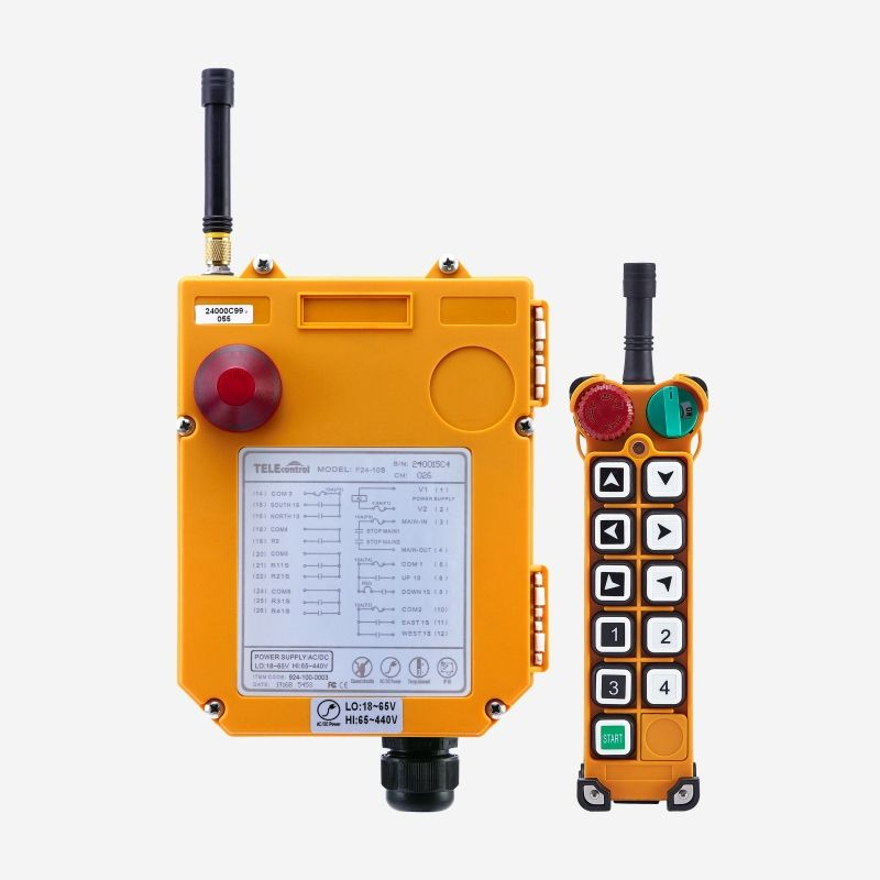 Uting hot sales F24-10S single speed 10 buttons industrial EOT crane radio remote control supplier with transmitter and receiver