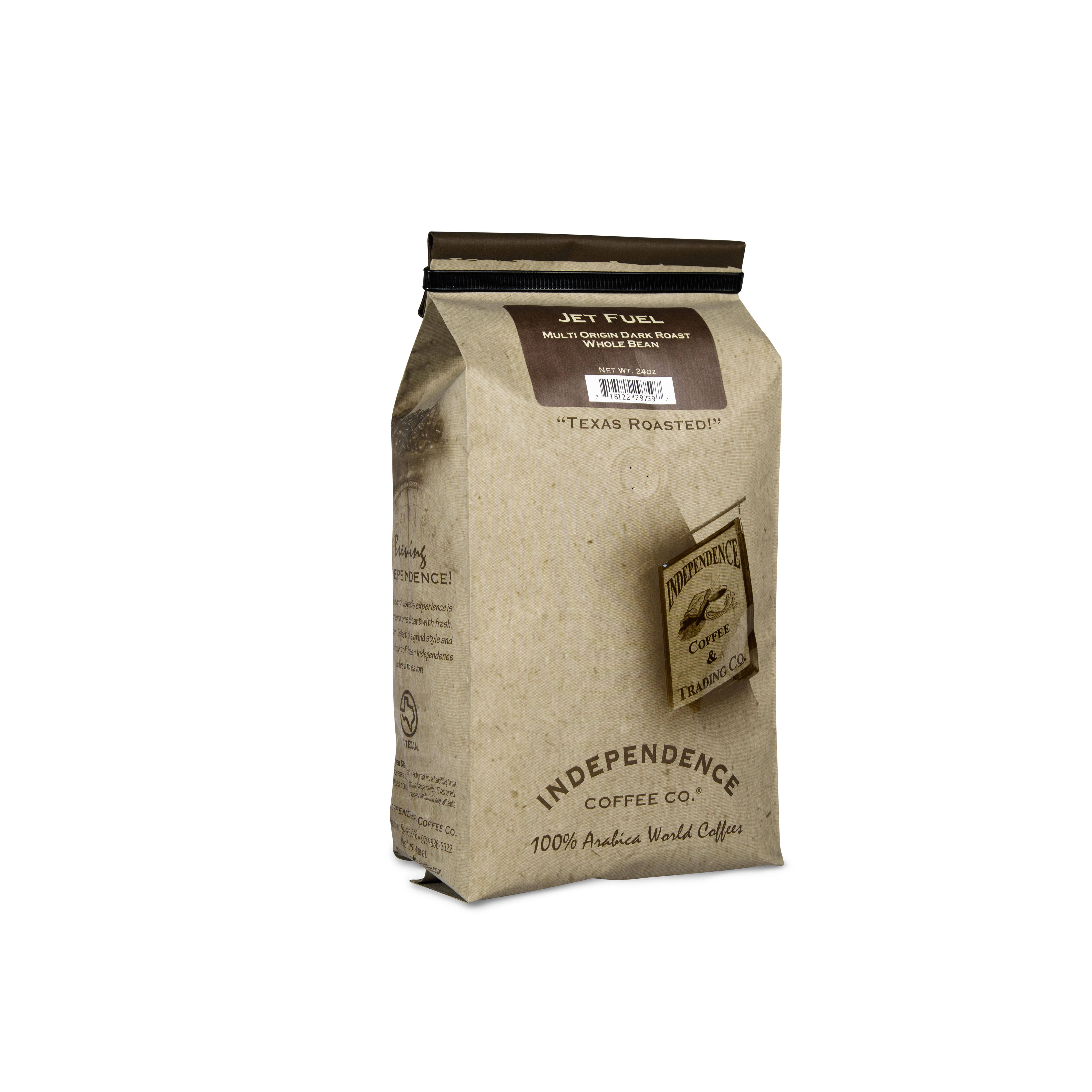Arabica Dark Roast Coffee Whole Bean Coffee 24 lb. Independence Coffee Co Jet Fuel Intense And Heavy Body