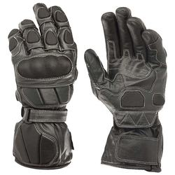Top Quality Motorbike Protective Gloves Black Leather Racing Glove