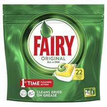 Fairy All In One Dishwasher Tablets Lemon 22s