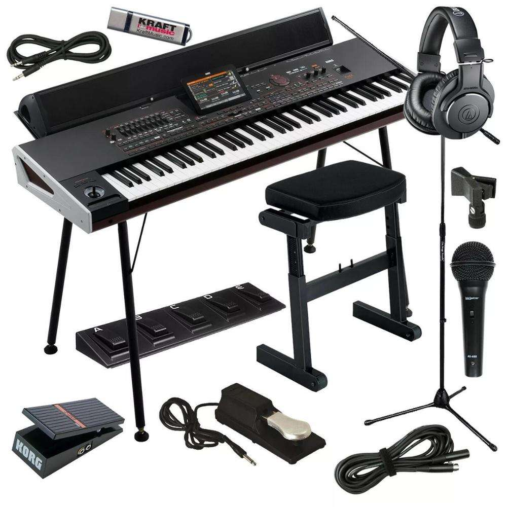 New Korg PA4X 76-Note Professional Arranger Workstation Keyboard with speaker system