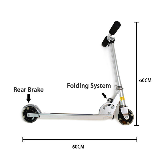 Foldable 2 wheel aluminum kick scooter for kids