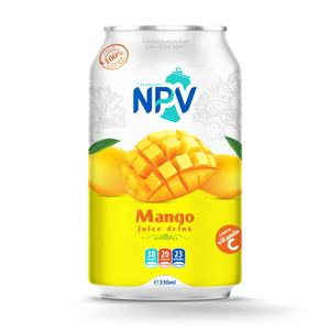 Manufacturer Beverage Free Sample 330ml Can MANGO JUICE DRINK