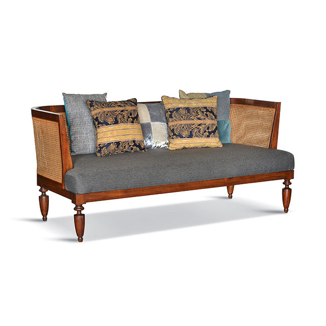 Bellini Sofa Colonial Mahogany Sofa furniture for Hotel, resort, home or living room