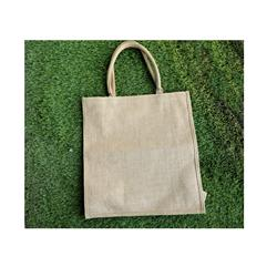 Banla-den Wholesale Shopping Bag White  Color Jute Bag 18cmx12cm