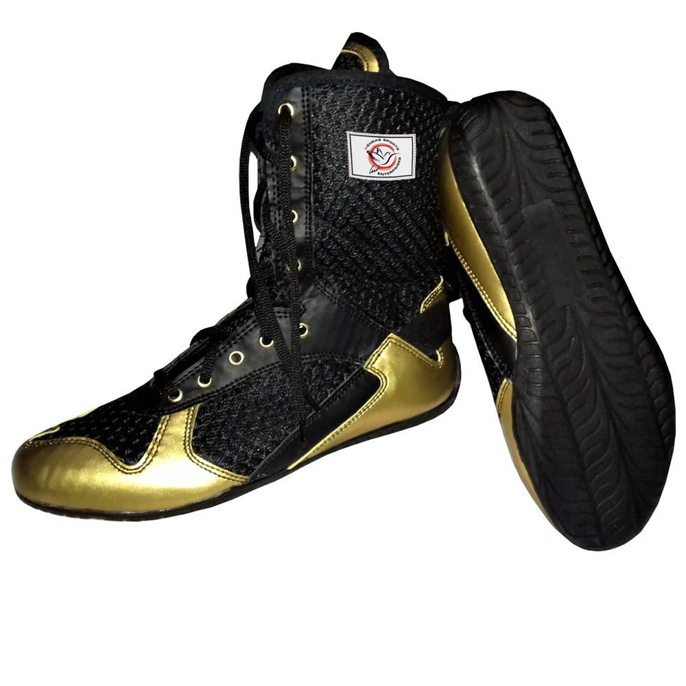 Training fighting shoes for men wholesale leather boxing