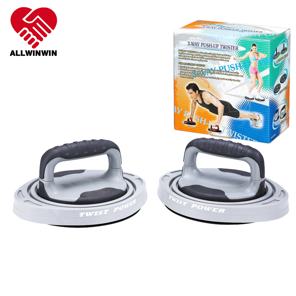 Allwinwin PUB24 Push Up Bar - Detachable Rotate Twist Handle Stand Pushup Integrated