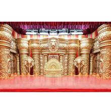 Grand Sri Lankan Wedding Maharaja Stage South Indian Wedding Fiber Crown Stage Set Royal Stage Decoration for Tamilian Weddings