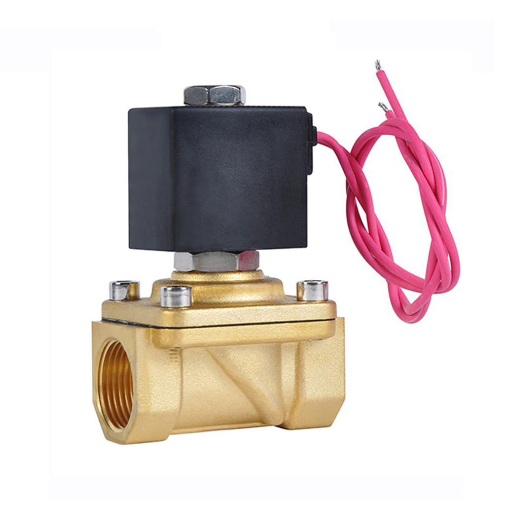 COVNA 24vdc Automatic 12V 24V Brown Brass Ball Valve Electric Water Flow Control Solenoid Valve