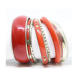 wholesale Colorful bangles set / resin and brass bangles set / Indian metal bangles set