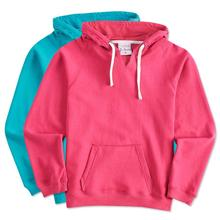 High Quality Fashion Winter Women Hoodie Color block Furry Pullover Women Hoodie