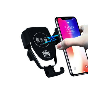 UUTEK Q12 2020 mobile holder fast wireless charging 10w wireless car charger with holder for iphone Samsung