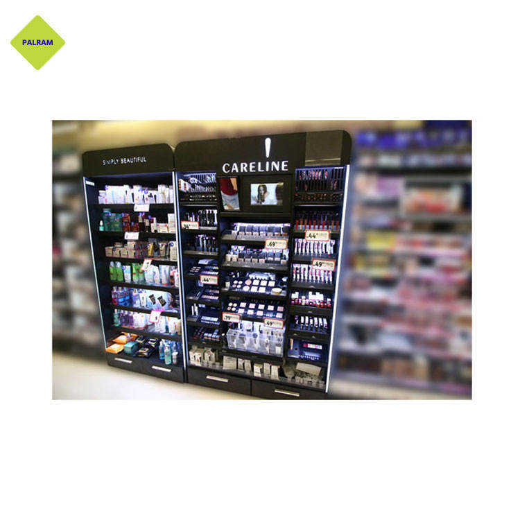 Modern Design Cosmetic and Make up Rack with LED Lights on Sale