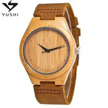 2020 Top Quality Bamboo Watch Free Engraved Low MOQ Wood Watch Japan Movement Wholesale