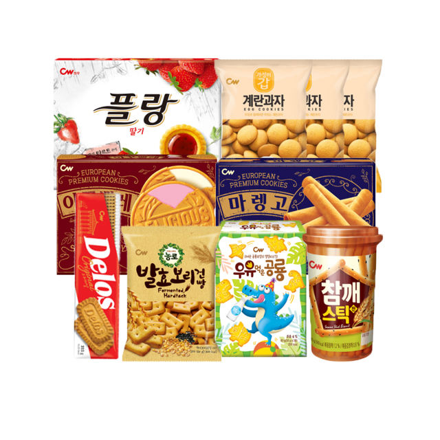 Korean snacks food Confectionery cookies fruits grain egg biscuit