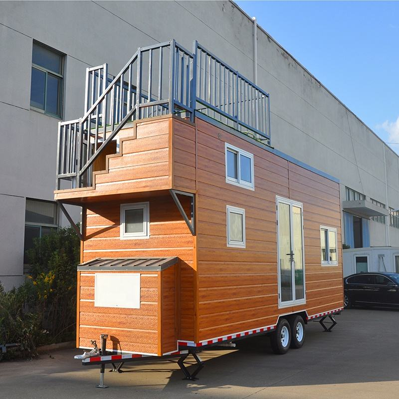 Deepblue Smarthouse Wholesale prefab light steel mobile small tiny house home on wheels with trailer Orlando