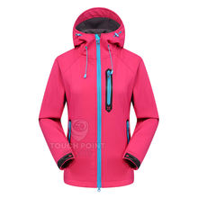 Female Windproof Soft Shell Fleece Windbreaker Jackets Outdoor Hiking Clothing Softshell Jacket waterproof hoodies