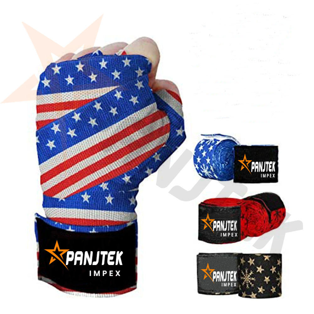Boxing Hand Wrap Printing USA Flag
