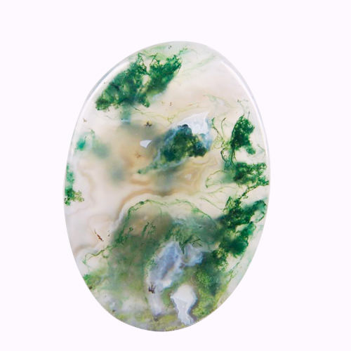 Wholesale Price For Crystal Therapy Stone moss agate Gemstone Loose Energy Natural Stone