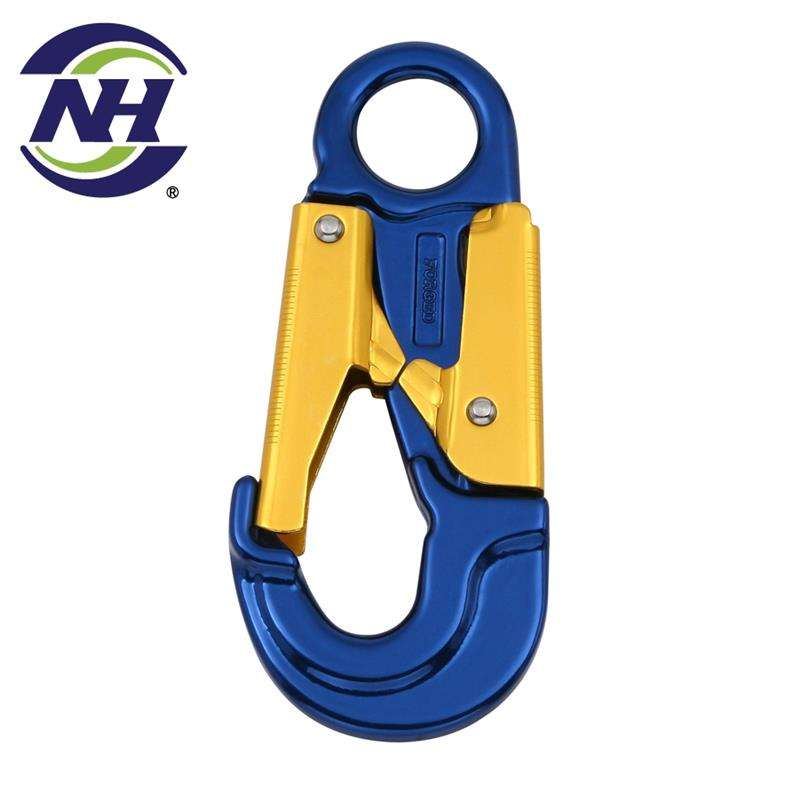 High Tensile Steel Alloy Aluminum Gate Snap Hook Super Light D Ring Solid Brass Black with Quality