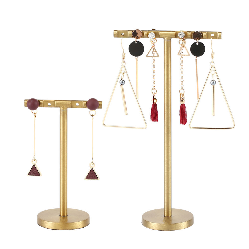 Jewelry Store Stainless Steel T-bar Earring Display Stand Jewelry Organizer Earring Trees for Showcase