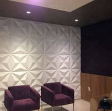 Square Shape 500x500 3d Effect PVC Wall Panel 3d Wallpaper for TV Background