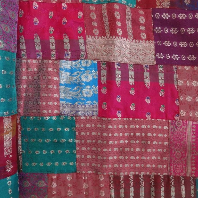 Indian Decorative Cotton Patchwork Kantha Quilt, Handmade Patchwork Soft Cotton Bedspread