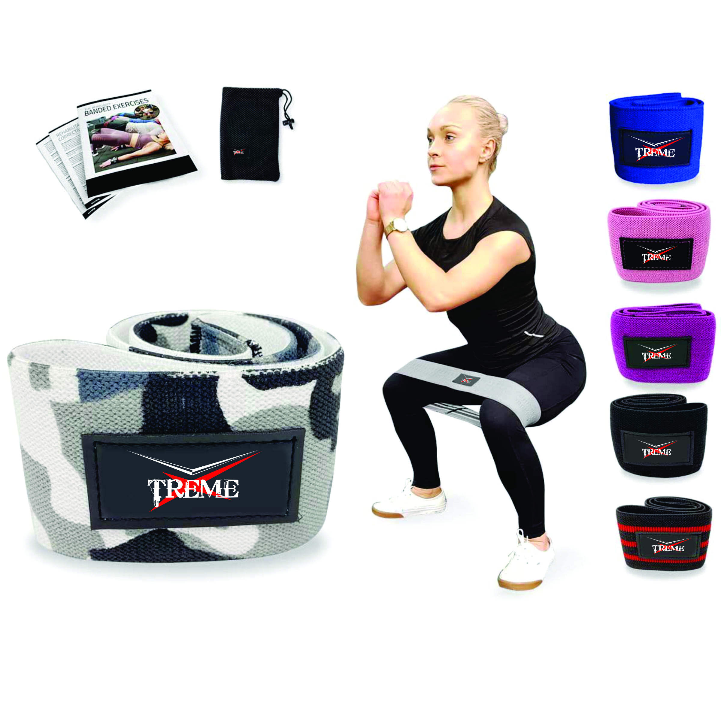 Hip Band Cirkel Glute Activering Band Heavy Elastische Katoen In Twee Maten Ideaal Voor Warm Up