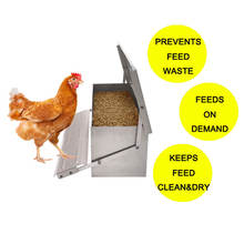 Custom High Quality Aluminum  Treadle Feeder Automatic Chicken Feeder